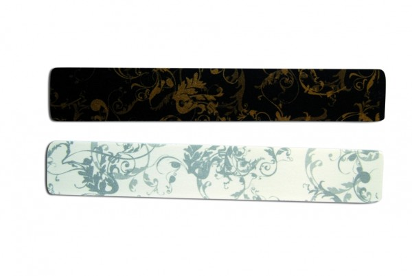 Ornamentfeile, rechteckig schwarz/gold